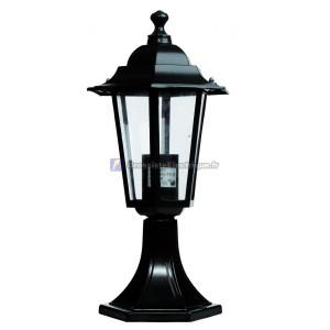 Lanterne de jardin en aluminium à 6 faces sobremuro. E27.Máx.60W. 230V.IP44.Uso externe. Noir.