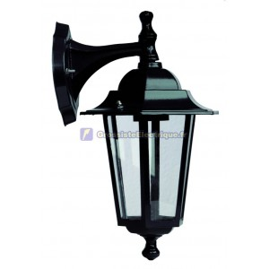 Cour Farol support en aluminium 6-sided ci-dessus. E27, 60W. 230. IP44. Usage externe. Blanco.