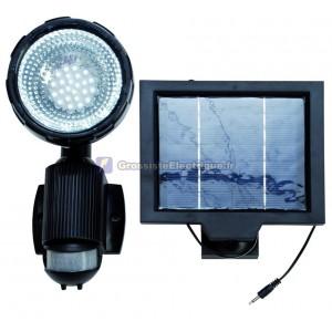 Spotlight solaire avec détecteur de mouvement 14 leds/4W. avec panneau solaire indépendant de charge CC 4,8 V, plastique, noi