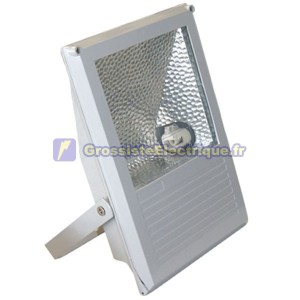 Projecteur aux halogénures avec crochet pivotant intégré variable et 70W Noir.