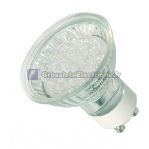 Ampoule décorative GU10 15 LED verte