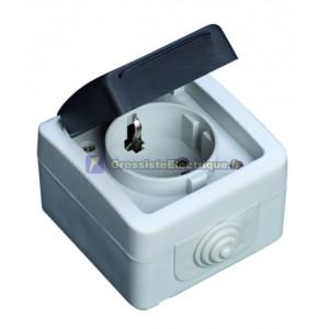 Base de simple série IP44 étanche à l'eau, une utilisation en extérieur, 10A à 16A, 250V. 50Hz