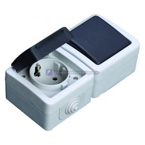 Mettez étanche IP44 + station de synchronisation série, une utilisation en extérieur, interrupteur 10A: 10A 16A de base,, 25