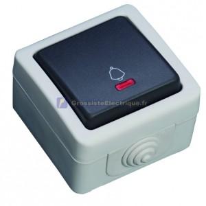 Bouton poussoir avec LED étanche séries utilisation en plein air. IP44, 10A, 250V-50Hz.