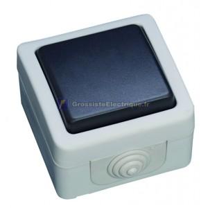 Commutateur série étanche une utilisation en extérieur. IP44, 10A, 250V-50Hz.
