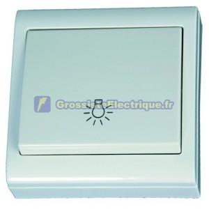 Commutateur de mise au point de la surface de la lumière blanche LG80, 80x80mm. 10A, 250V, Polycarbonate.