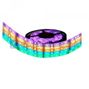 Rouleau de 5 mètres LED bande de 7,2 W / m multicolore RGB