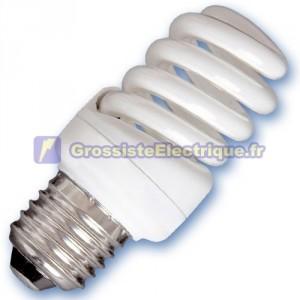 Encadré 10 ampoules basse consommation 15W E27 2700K chaud microbobine