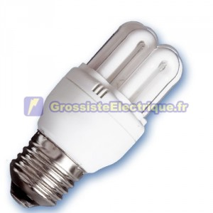 Encadré 10 ampoules basse énergie mini-6 U 15W E27 2700K chaud