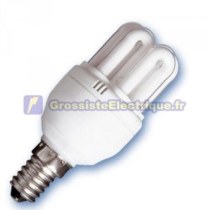 Encadré 10 ampoules basse consommation 11W E14 mini-6U jour 4200K