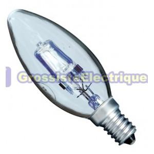 Encadré 10 Bougie Ampoules ECO 28W Halogène claire (40W) E14