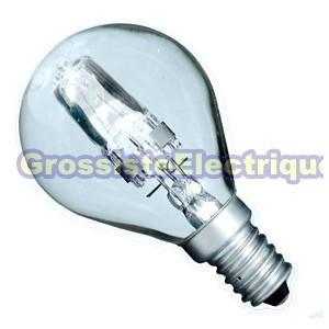 ECO Ampoules halogènes claires Encadré 10 42W sphériques (60W) E14