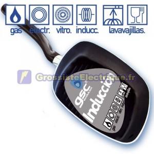 Grill pan induction 3 mm. d'épaisseur, mm 240x240.