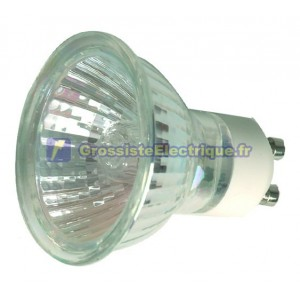 Encadré 10 ampoules halogènes dichroïques 50W GU10 60 °