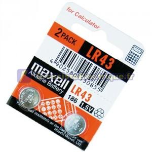 Dénudez 10 u. 1,5 V piles alcalines LR43 Maxell