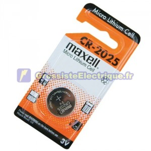 Encadré 20 U. Empilez LITHIO Maxell CR2025 3 V