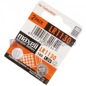 Dénudez 10 u. 1,5 V piles alcalines Maxell LR1130