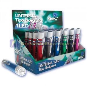Afficher 24 Lampe de poche en aluminium LED / short. Tapez stylo.