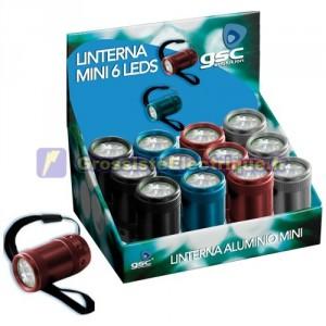 Afficher 12 pcs. Lampe de poche LED ovales en aluminium 6.