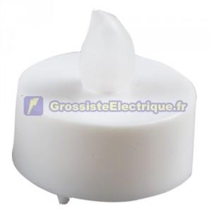 Clignotant bougie décorative petites LED Blanc - Blister, 1 pile CR2032.