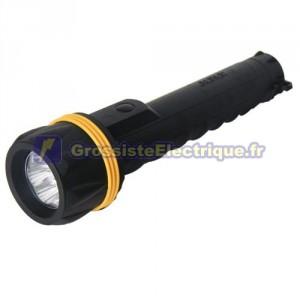 Lanterne en caoutchouc résistant à l'eau 3 LED, noir - boîtier rigide. 3 R20