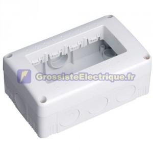 Boîtier étanche de superfcie 4 modules IP40 / creux