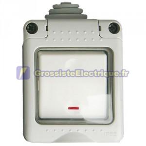 10A IP55 bouton LED étanche. 250V.
