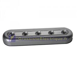 Poussez-Light 5 LED, piles Fonctionne avec 3 R3 (AAA) - En Blister.