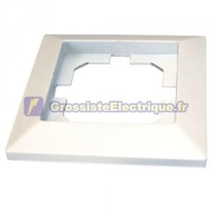Blanc lunette à encastrer pour 1 module / 82x82cm Hollow.