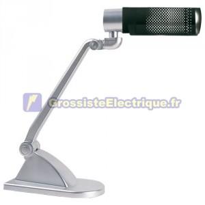 Lampe de bureau noir flexo faible consommation d'énergie E27 20W 230V. 450x130x383mm.