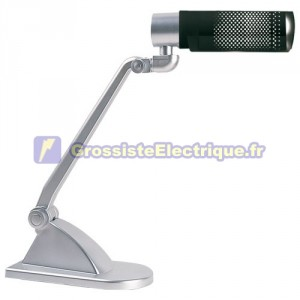 Lampe de bureau flexo avec le bleu de basse énergie E27 20W 230V. 450x130x383mm.
