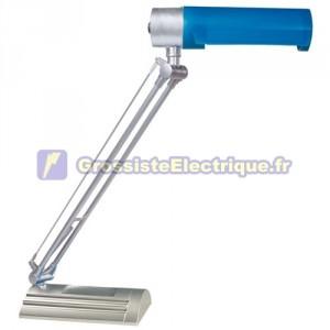Lampe de bureau flexo bleu avec faible consommation d'énergie E27 20W 230V. 220x70x470mm.