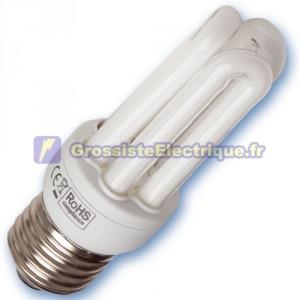 Encadré 10 ampoules basse consommation 20W E27 2700K chaude Micro
