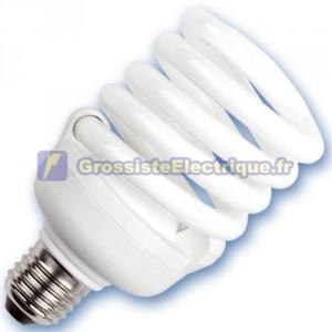 Encadré 10 ampoules basse énergie Spirale 30W E27 2700K chaud