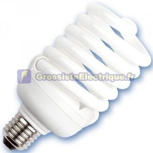Encadré 10 ampoules spirale de 40W à basse énergie E27 2700K chaud