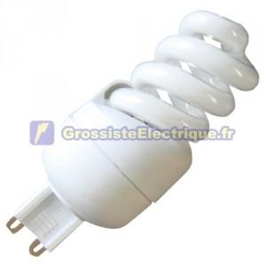 Encadré 10 ampoules basse énergie Spirale 11W 4200K G9 jours