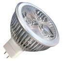 Encadré 10 ampoules LED 3x2W (6W) MR16 12V 2700K chaud