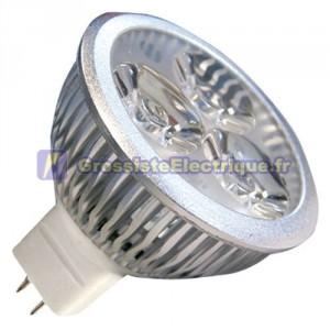 Ampoule LED 4,5 W 3x2W MR16 G5, 3 12V 6400K froid