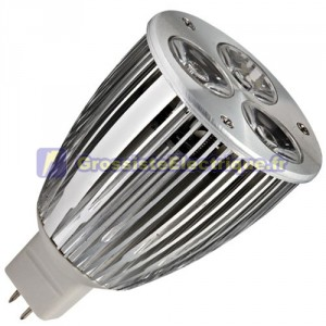 Ampoule LED 7,5 W (3x3W) MR16 G5, 3 12V 2700K chaud