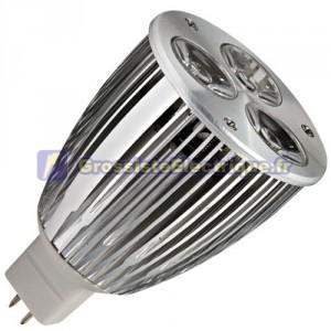 Ampoule LED 7,5 W (3x3W) MR16 G5, 3 12V 6400K froid