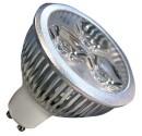 Encadré 10 3 LED GU10 3x2W (6W) 30/45 º chaud 2700K