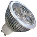 Encadré 10 3 LED GU10 3x2W (6W) 30/45 froid 6400K º