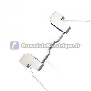Douille R7s 118mm linéaire. pour halogènes 250V 6A linéaires de la lampe.