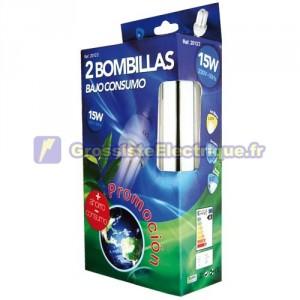 Pack de 2 ampoules 20W E27 4200K