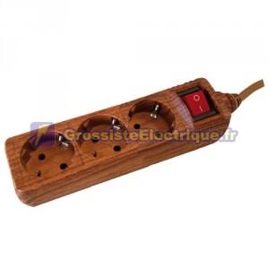Plusieurs de base en bois 3 photos (3T) avec 1,5 mètre de câble série bois.
