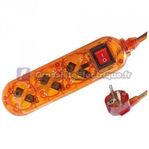 Plusieurs de base Transparent Orange 3 coups / Int. (3T) avec 1,5 mètres de câble série transparent.