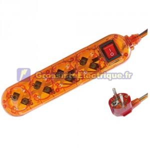 Plusieurs de base Transparent Orange 4 tirs / Int. (4T) avec 1,5 mètres de câble série transparent.