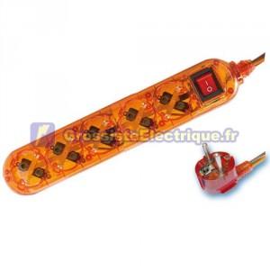 Plusieurs de base Transparent Orange 5 coups / Int. (4T) avec 1,5 mètres de câble série transparent.