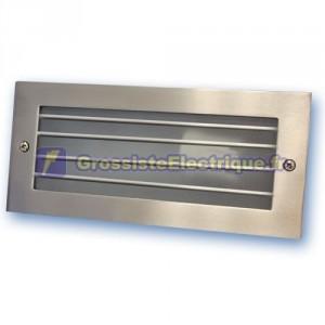 Appliquer la lumière dans le mur grille en aluminium. E27, 60W, nickel satiné.