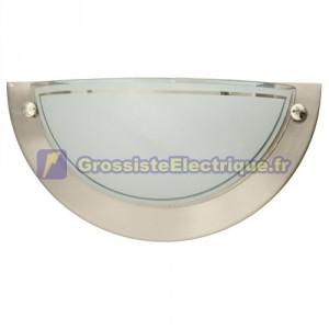 Mur en aluminium semi-circulaire. E27, 20W (60W) 230V.IP20 une utilisation en intérieur.
